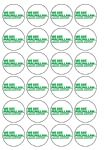 24 x Macmillan Cancer Support Edible Wafer Paper Cup Cake Toppers